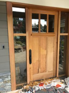 Refinishing a front door - Before Image
