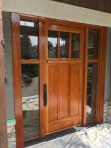 Refinishing a front door - After Image